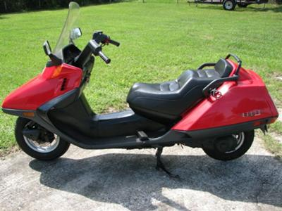 1997 Honda Helix red black (example only)