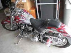 1998 Harley Davidson Custom Fatboy w custom Red, Silver and White Motorcycle Paint