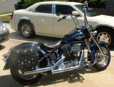 1998 Harley Davidson Fatboy Sinister Blue Pearl Paint
