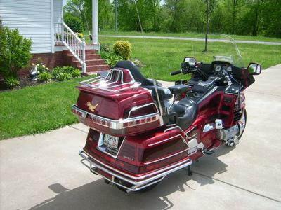 1998 Honda Goldwing with 1998 Motorcycle Camping Trailer