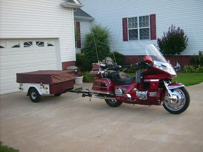 1998 Honda Goldwing with 1998 Motorcycle Camping Trailer for sale by owner