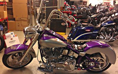 1999 Harley Davidson Fatboy Frame w S&S motor carburetor and custom paint