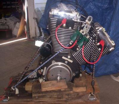 Black and Chrome 1999 Harley Evo Motor Engine