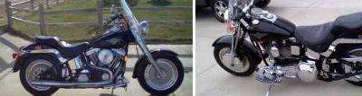 Vivid Black 1999 Harley Davidson Fat Boy w 96 INCH S&S