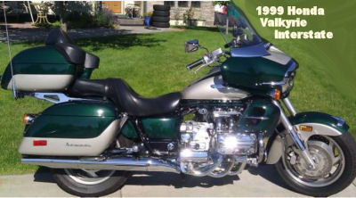 1999 Honda Valkyrie Interstate w green and silver paint color scheme