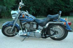 2000 Custom Harley Davidson Fat Boy w/ Shredded Paint Job