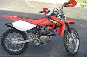 2002 Honda XR100 4 stroke michelin tires