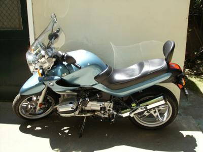 2002 BMW R1150R Motorcycle (this photo is for example only; please contact seller for pics of the actual motorcycle for sale in this classified)
