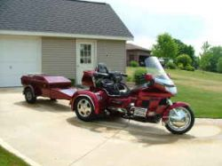 2002 Honda Goldwing GL1500 Trike and Trailer (this photo is for example only; please contact seller for pics of the actual motorcycle and trailer for sale in this classified)
