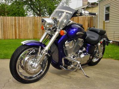 Illusion Blue Paint 2002 Honda VTX 1800 CUSTOM SHOW MOTORCYCLE