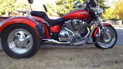 2003 Honda VTX 1800c Trike Motorcycle w Custom Metallic Orange Paint Color