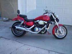 2003 Kawasaki Mean Streak w Custom Flame Motorcycle Paint Job