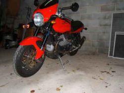 Red 2003 Moto Guzzi V11