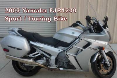 Silver and Black 2003 Yamaha FJR1300 Sport Bike