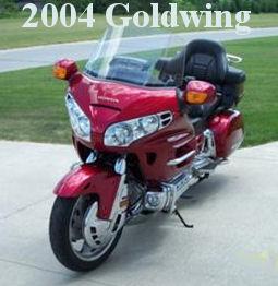Cherry Red Brandy Wine 2004 honda goldwing motorcycle