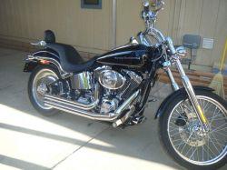 Black 2004 Harley Davidson Softail Deuce Reinhart Exhaust