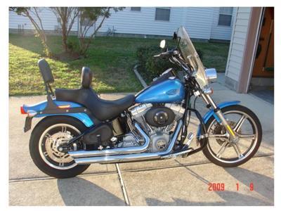 Beautiful Blue 2004 Harley Davidson Softail Standard