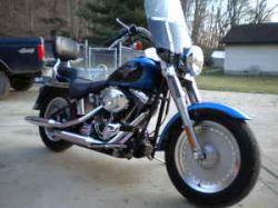 Blue 2004 Harley Davidson Fatboy