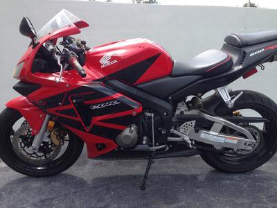 Red 2004 Honda Cbr 600 RR Motorcycle