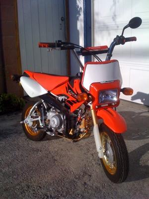 Fully Licensed and Street Legal and OHV Legal Custom 2004 Honda CRF50 Dirt Bike