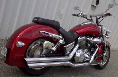 Candy Red 2004 Honda VTX 1800N 1 with Vance & Hines Bigshot Exhaust (No Baffles