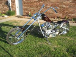 Red Black Silver Faded Flames  Motorcycle Paint Hand painted Pin-Striping 2005 Custom Coors Light Chopper