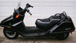 2005 honda helix scooter black