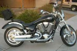 2005 Victory Vegas Custom Cruiser upgraded to the Victory Stage I kit consisting of a 2-into-1 exhaust, a K&N air filter, vented air box and EFI remap