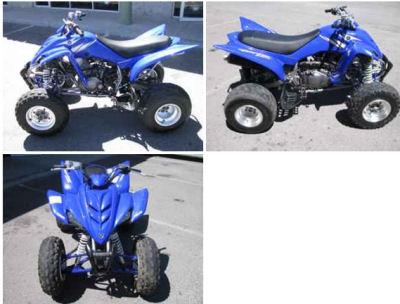 Blue 2005 YAMAHA RAPTOR 350