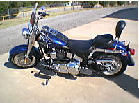 2006 royal blue metallic Harley Davidson Fat Boy FLSTFI