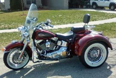 2006 Harley Davidson  Heritage Softail Trike (this motorcycle is for example only; please contact seller for pics of the actual bike for sale)