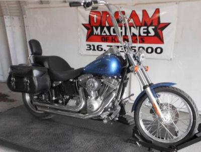 2006 Harley Davidson Softail FXSTI w blue paint color