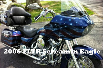 2006 Harley Davidson FLTR Screamin' Eagle Road King with a Custom American Flag Francis Scott Key Motorcycle Paint Job
