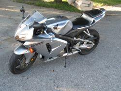 Silver Metallic 2006 Honda CBR 600 RR Motorcycle
