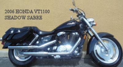 Black 2006 HONDA VT1100 SHADOW SABRE