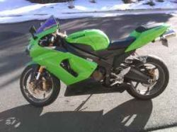Green 2006 Kawasaki ZX636