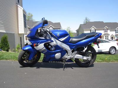 Royal Cobalt Blue Metallic 2006 Yamaha YZF 600 R YZF600R