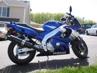 Royal Cobalt Blue Metallic 2006 Yamaha YZF600R