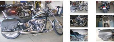 Blue Suede Pearl 2007 Harley Davidson Softail Custom