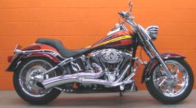 2007 Harley Softail Fatboy Fat Boy with two-tone Harley Davidson Radical Grinder Paint Color Option