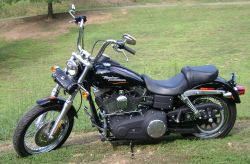 Black Paint with Orange and Yellow Pin Stripes 2007 Harley Davidson Street Bob