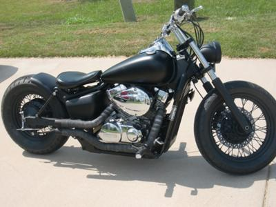 2007 Honda Shadow 750 Bobber (example only; please contact for pictures)