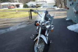 Black and Silver 2007 Kawasaki Vulcan Classic LE