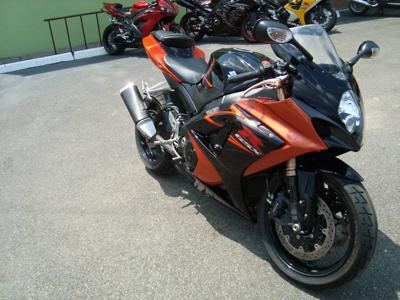 Orange and Black 2007 Suzuki GSXR 1000
