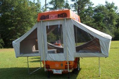 2008 Aspen Ambassador Motorcycle Pop Up Tent Camper Trailer
