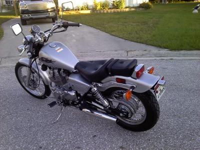2008 Honda Rebel rear wheel and fender