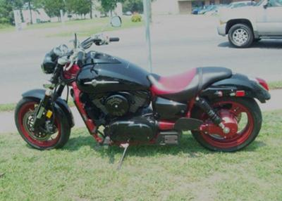BLACK and RED  2008 KAWASAKI MEAN STREAK VULCAN 1600