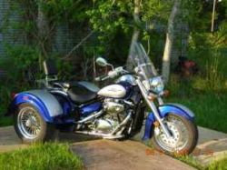 Royal Blue and Silver 2008 Suzuki Boulevard C50 Trike