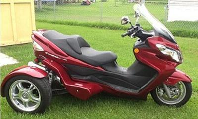 The 2008 Suzuki Burgman 400 Scooter with Danson Trike kit was when I purchased it