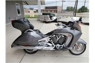 2008 Victory Vision Motorcycle w silver paint color, a power windscreen and a trunk